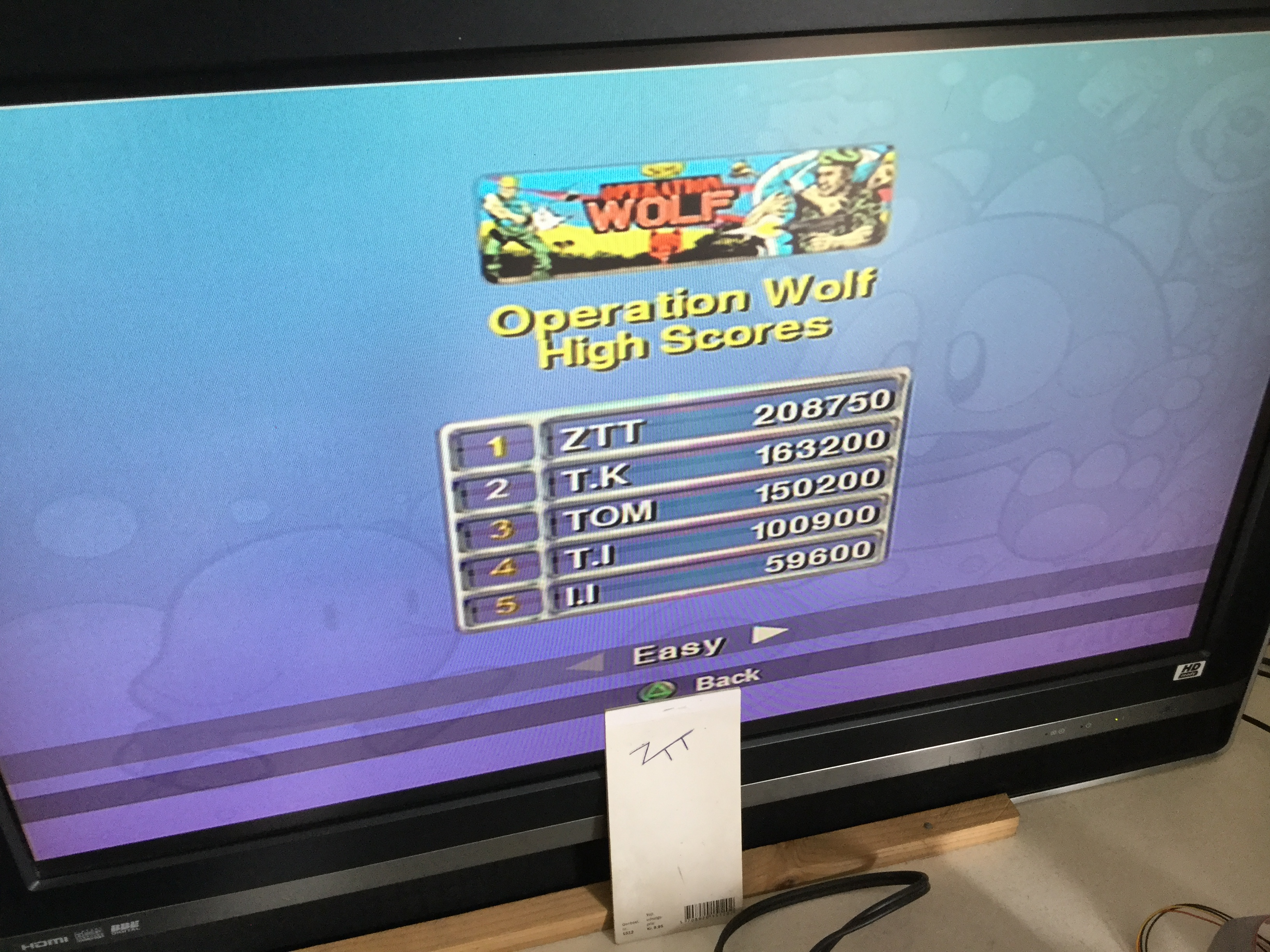 Frankie: Taito Legends: Operation Wolf (Playstation 2) 208,750 points on 2018-03-25 07:38:28