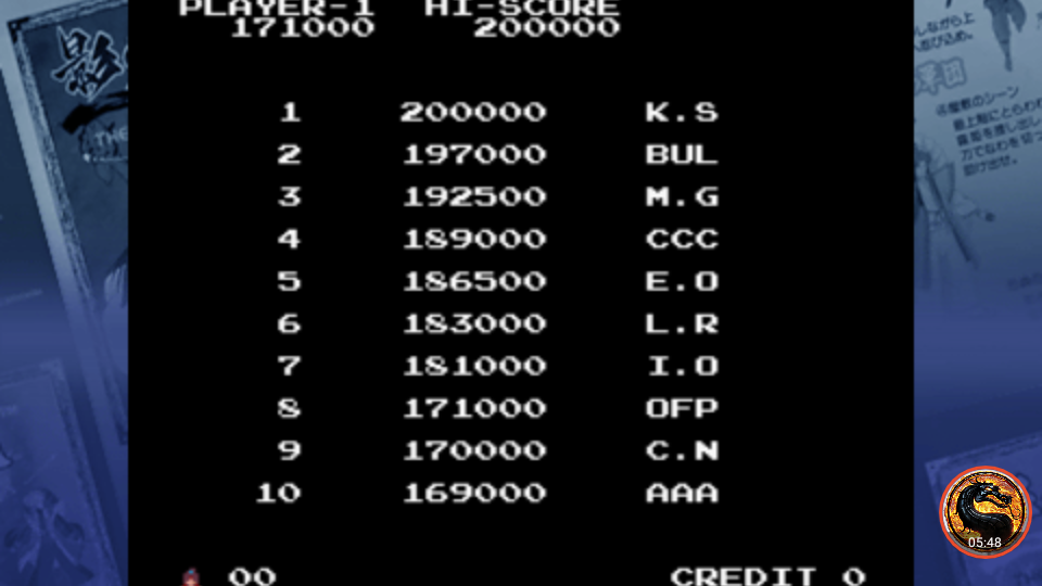 omargeddon: Taito Legends: Power-Up: Legend of Kage (PSP Emulated) 171,000 points on 2018-12-19 21:55:16