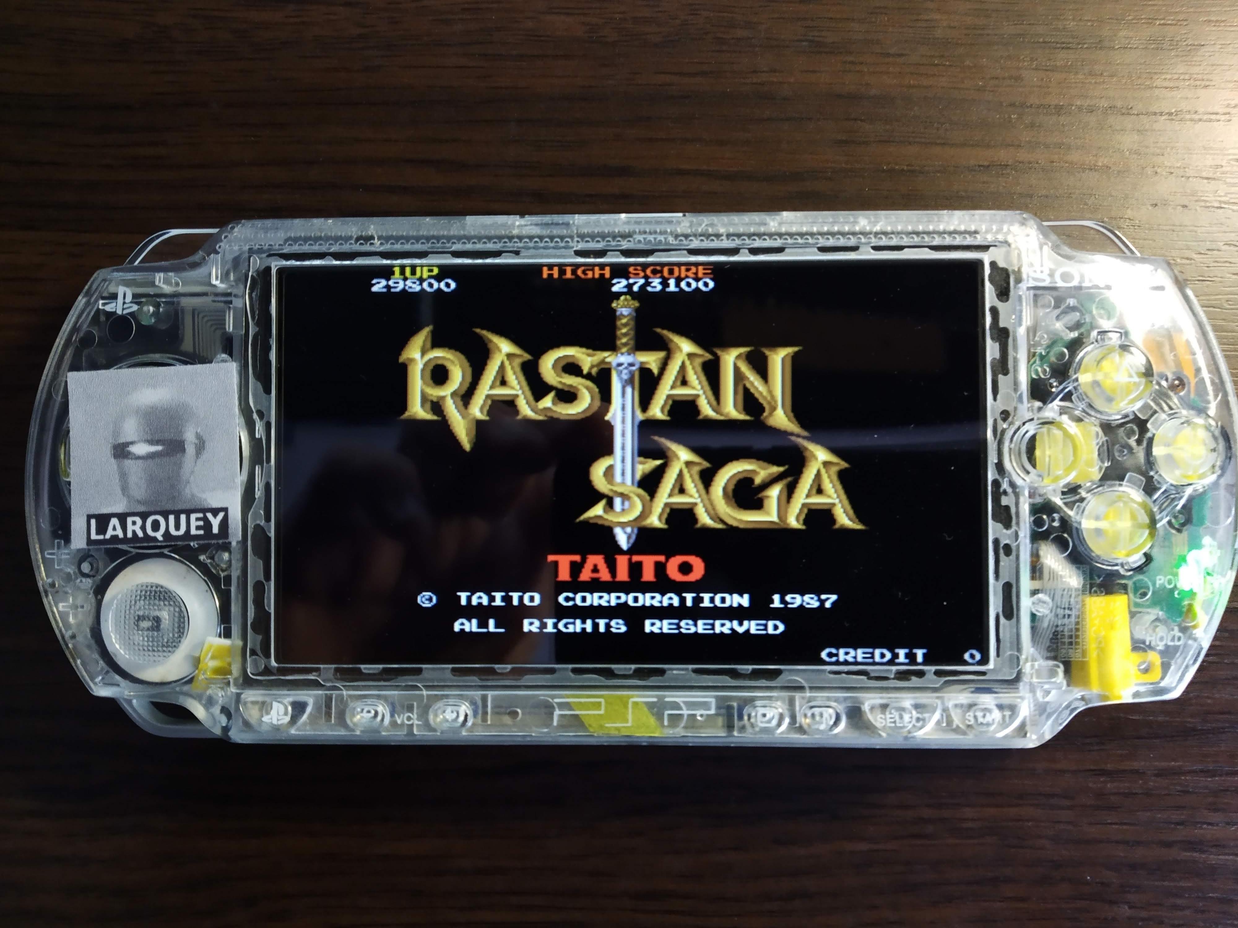 Larquey: Taito Legends: Power-Up: Rastan (PSP) 29,800 points on 2019-12-15 08:09:35