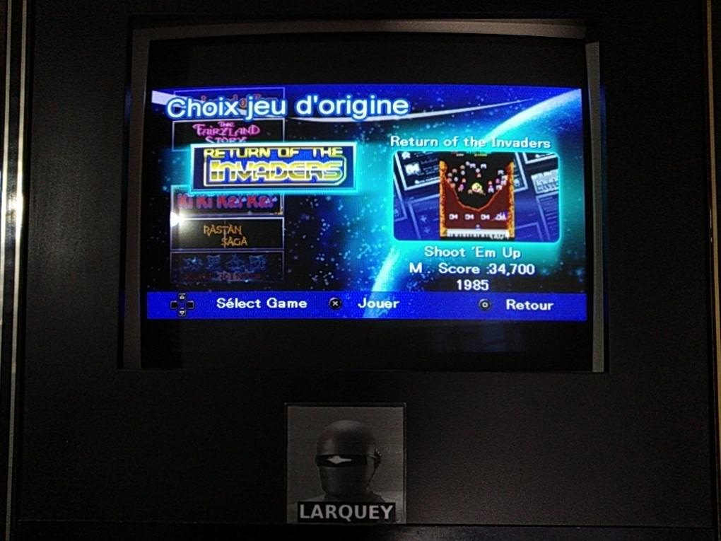 Larquey: Taito Legends: Power-Up: Return Of The Invaders (PSP Emulated) 34,700 points on 2019-09-22 12:23:35