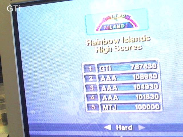 GTibel: Taito Legends: Rainbow Islands [Difficult] (Playstation 2) 787,830 points on 2017-09-06 03:58:07