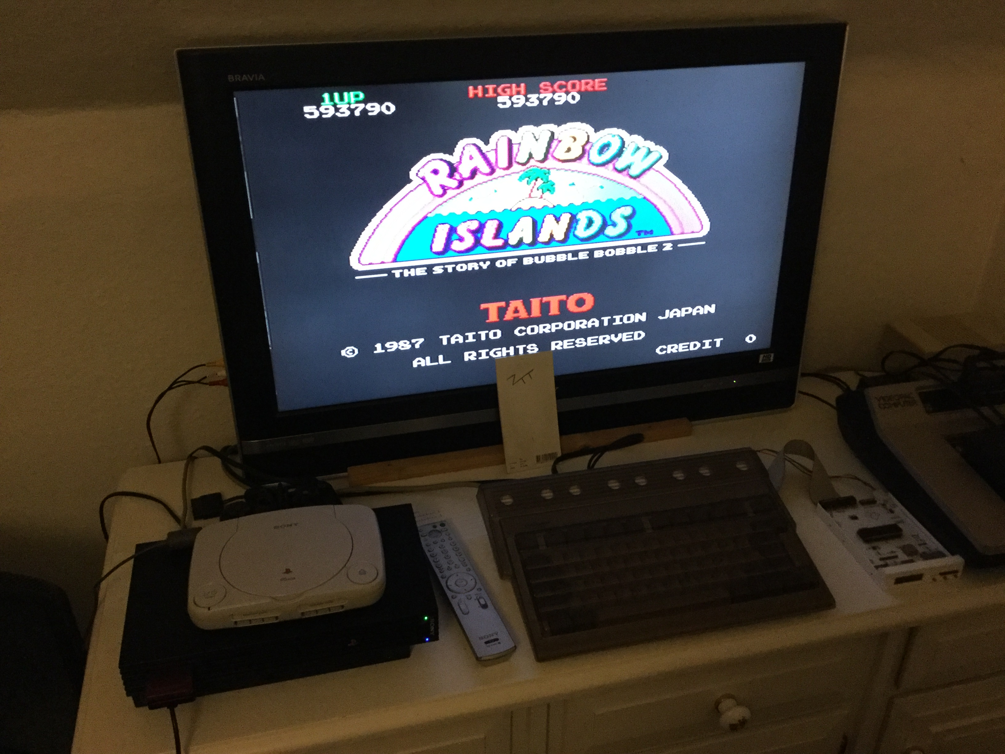 Frankie: Taito Legends: Rainbow Islands [Medium] (Playstation 2) 593,790 points on 2018-03-23 13:33:33