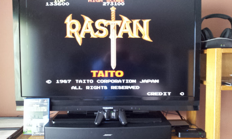 Larquey: Taito Legends: Rastan (Playstation 2) 133,600 points on 2017-03-25 10:42:57
