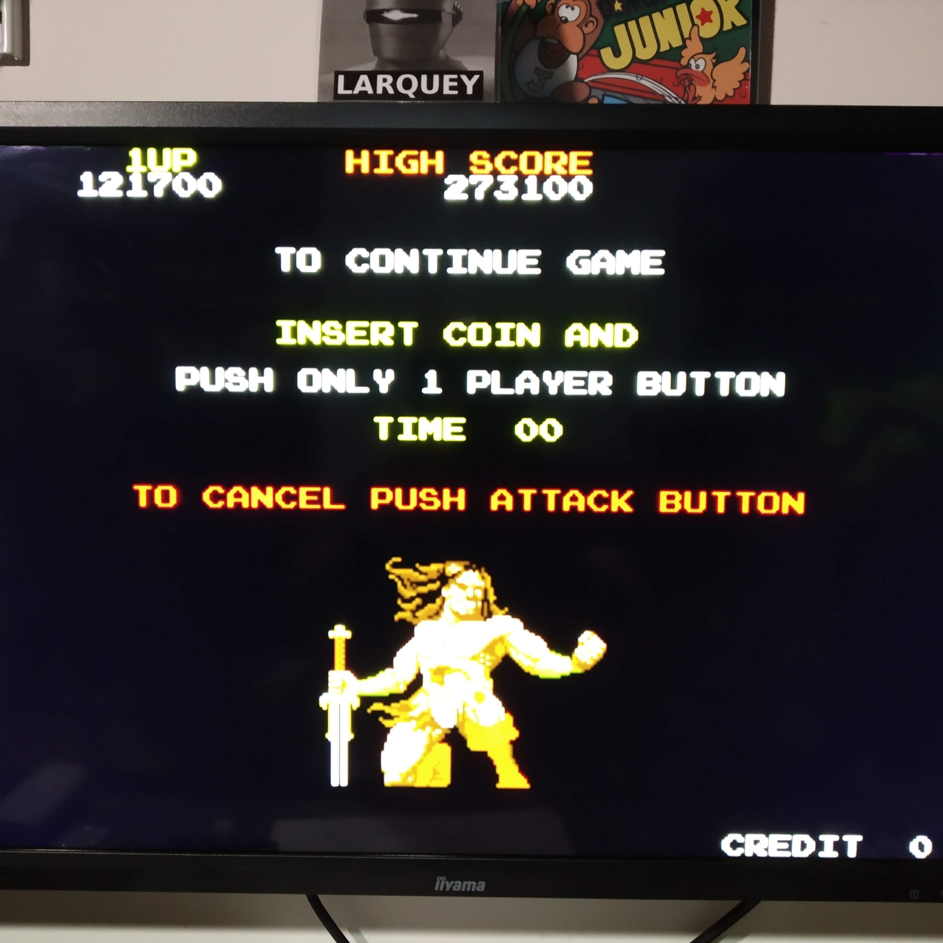 Larquey: Taito Legends: Rastan (Playstation 2 Emulated) 121,700 points on 2020-08-09 03:12:25