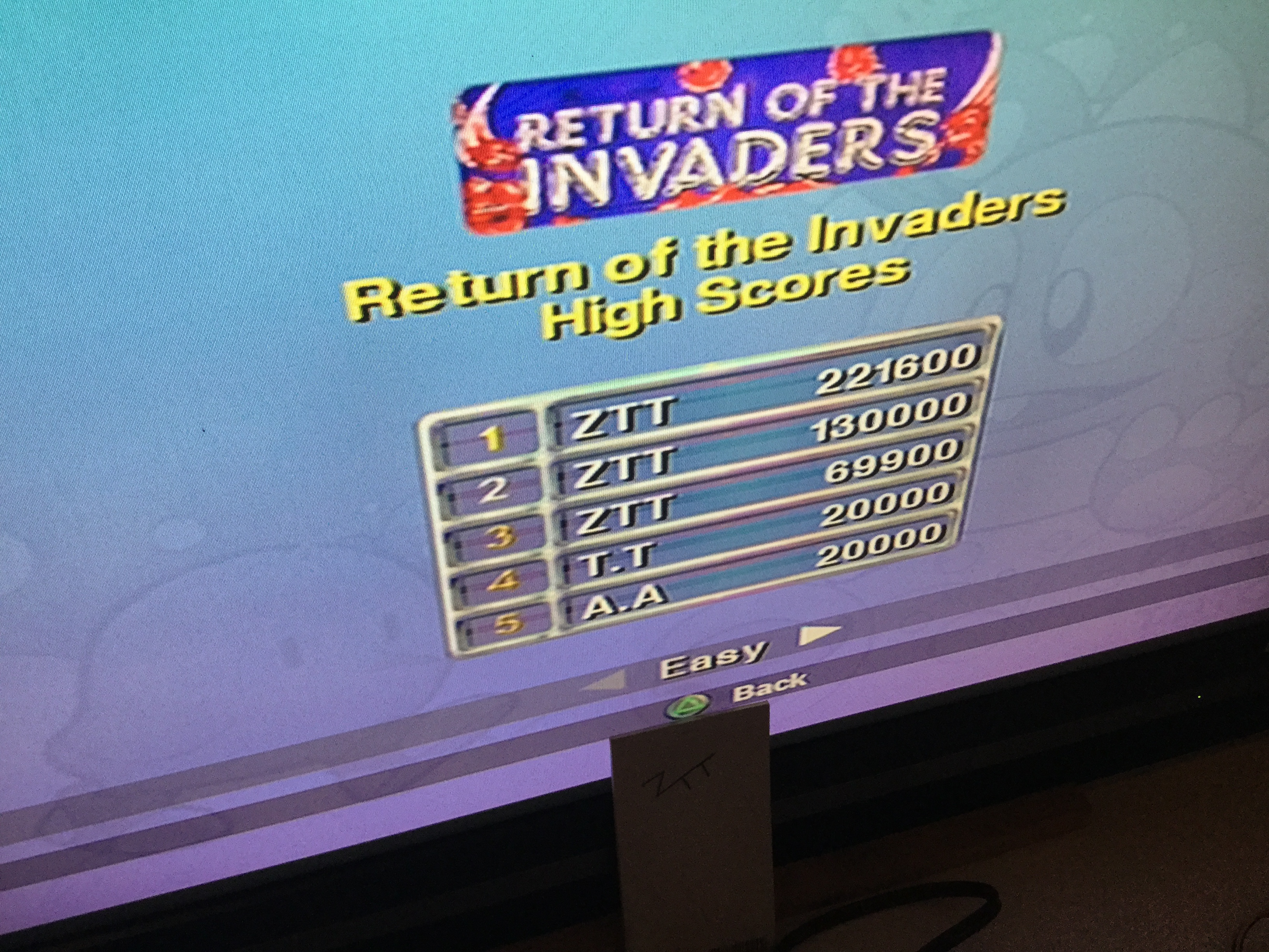Frankie: Taito Legends: Return Of The Invaders [Easy] (Playstation 2) 221,600 points on 2018-03-28 12:39:37
