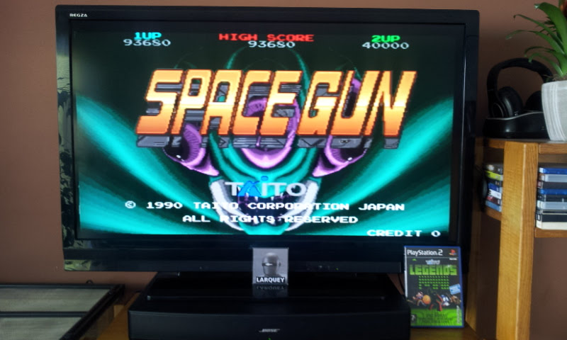 Larquey: Taito Legends: Space Gun [Easy] (Playstation 2) 93,680 points on 2018-01-28 09:58:30