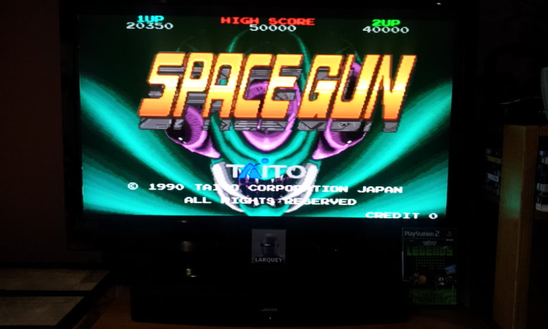 Larquey: Taito Legends: Space Gun [Hard] (Playstation 2) 20,350 points on 2018-01-28 11:27:48