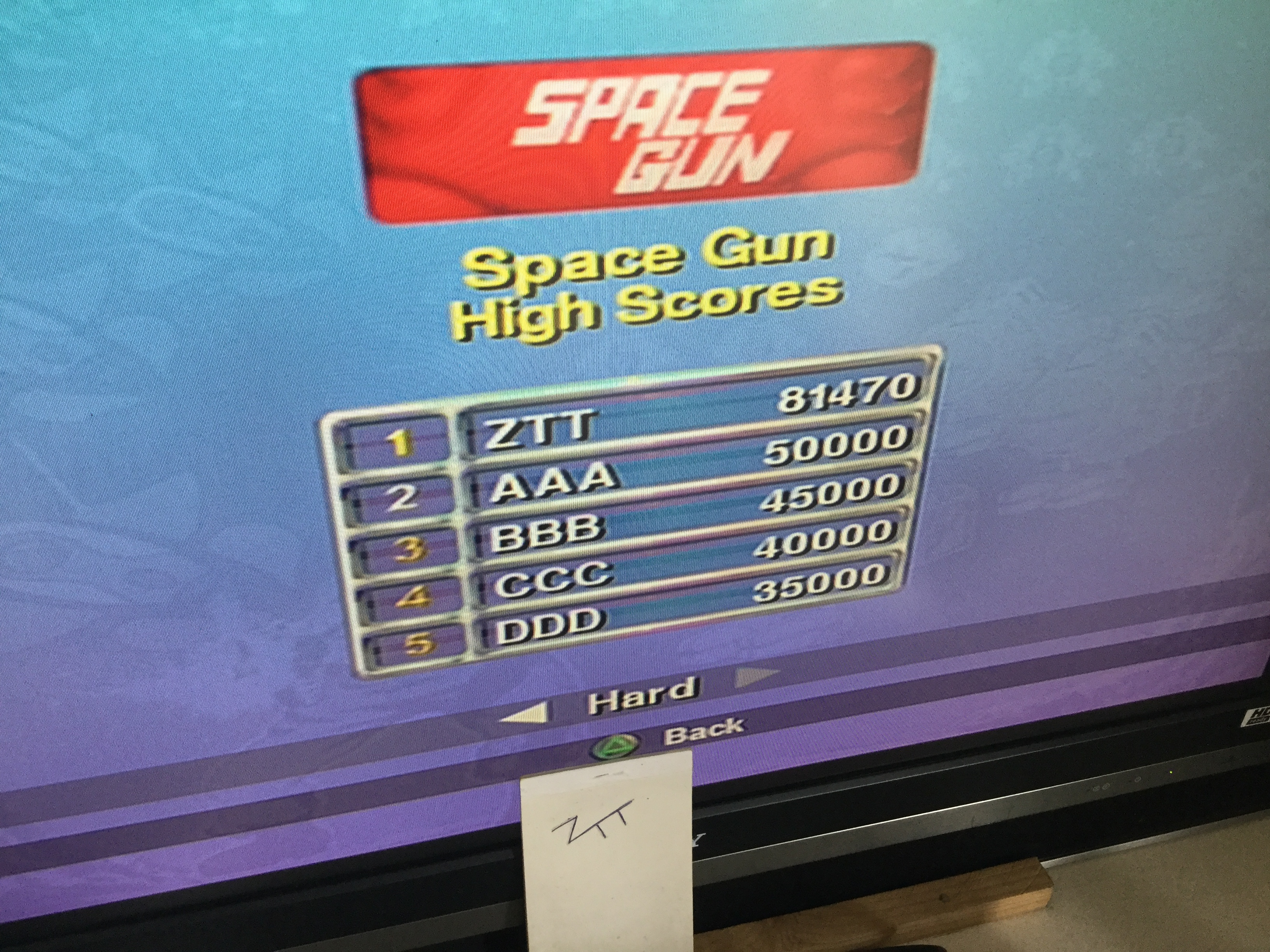 Frankie: Taito Legends: Space Gun [Hard] (Playstation 2) 81,470 points on 2018-03-31 06:03:38