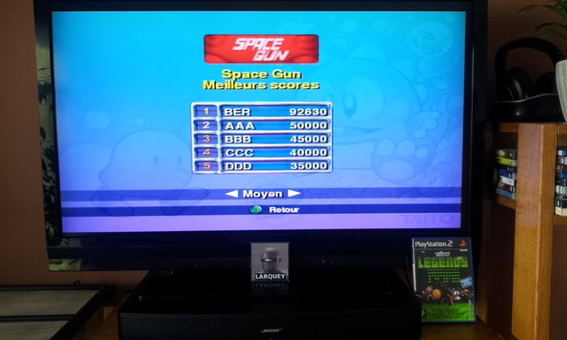 Larquey: Taito Legends: Space Gun [Medium] (Playstation 2) 92,630 points on 2018-01-28 09:59:49