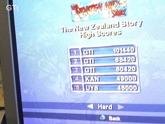GTibel: Taito Legends: The New Zealand Story [Difficult] (Playstation 2) 101,440 points on 2017-09-05 04:57:56