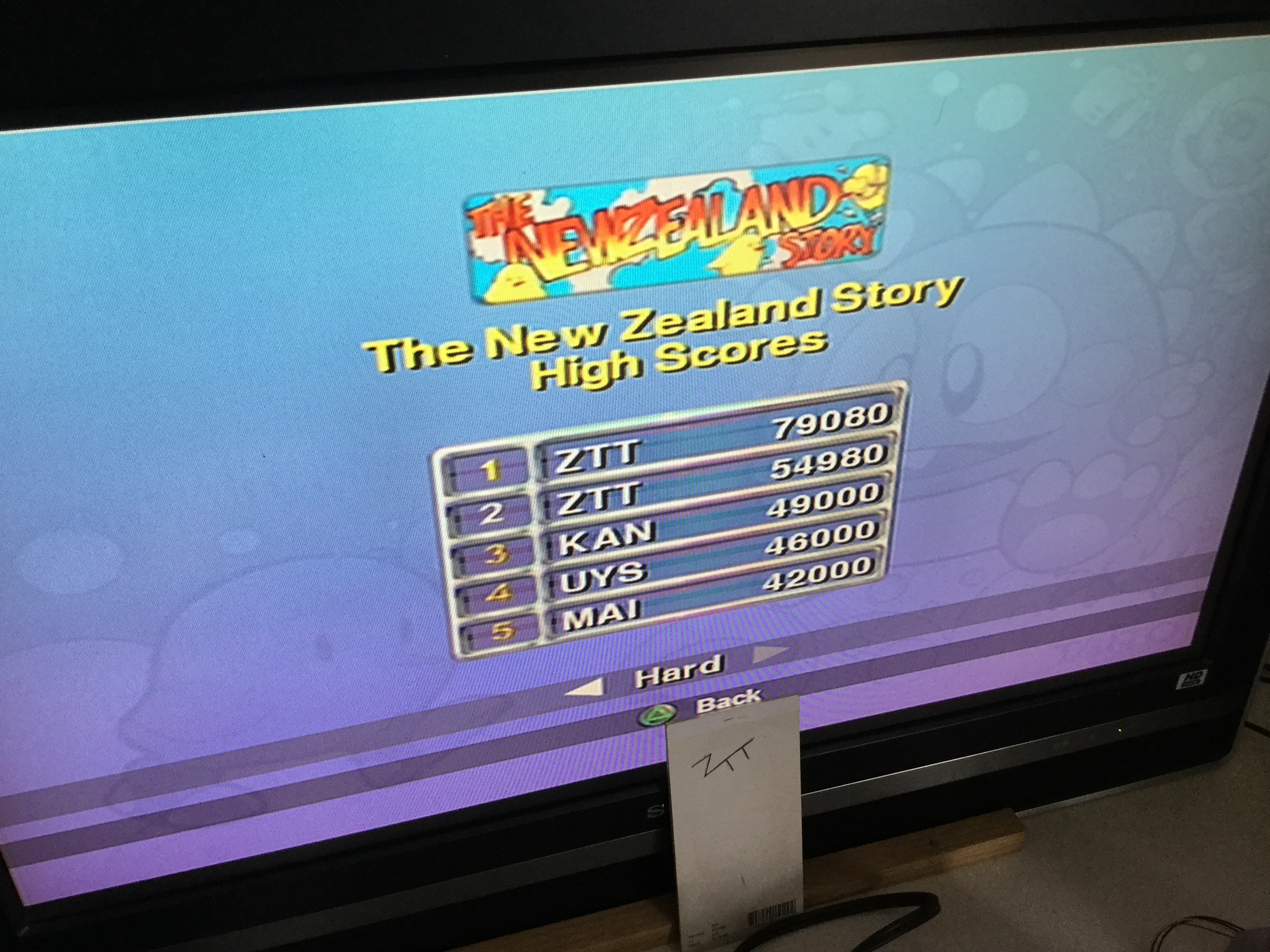 Frankie: Taito Legends: The New Zealand Story [Difficult] (Playstation 2) 79,080 points on 2018-03-24 05:24:52