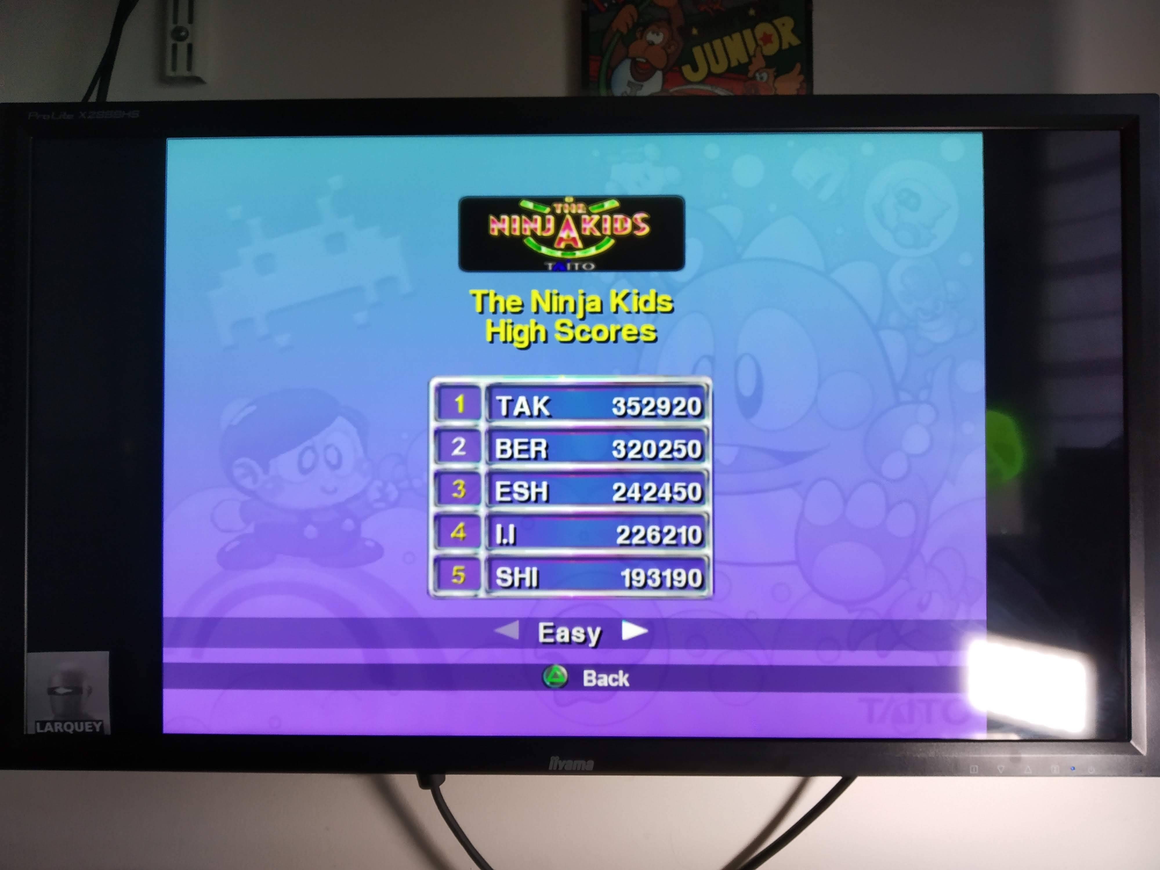 Larquey: Taito Legends: The Ninja Kids [Easy] (Playstation 2 Emulated) 320,250 points on 2020-07-31 08:40:41