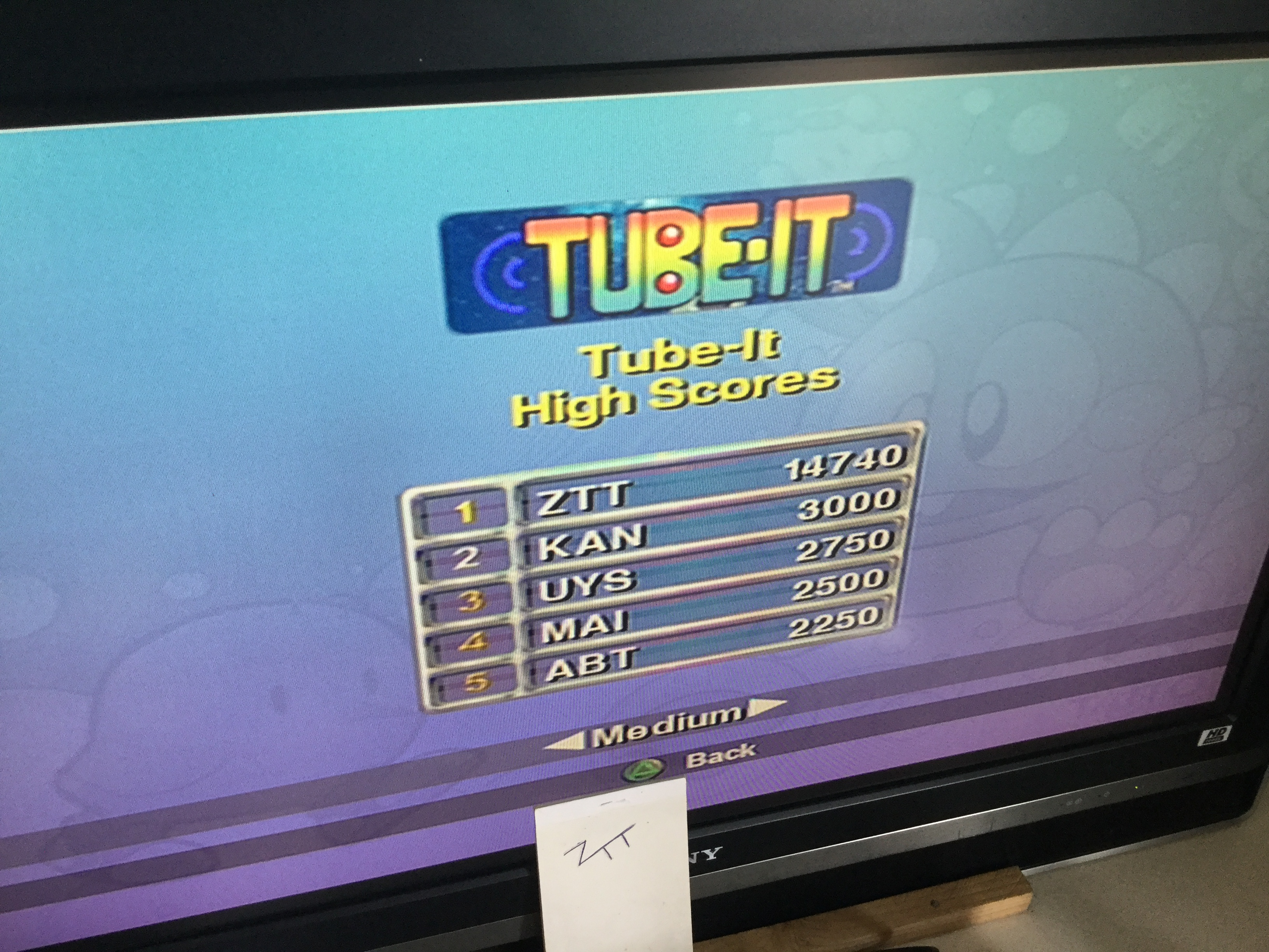 Frankie: Taito Legends: Tube It [Medium] (Playstation 2) 14,740 points on 2018-04-02 07:40:03