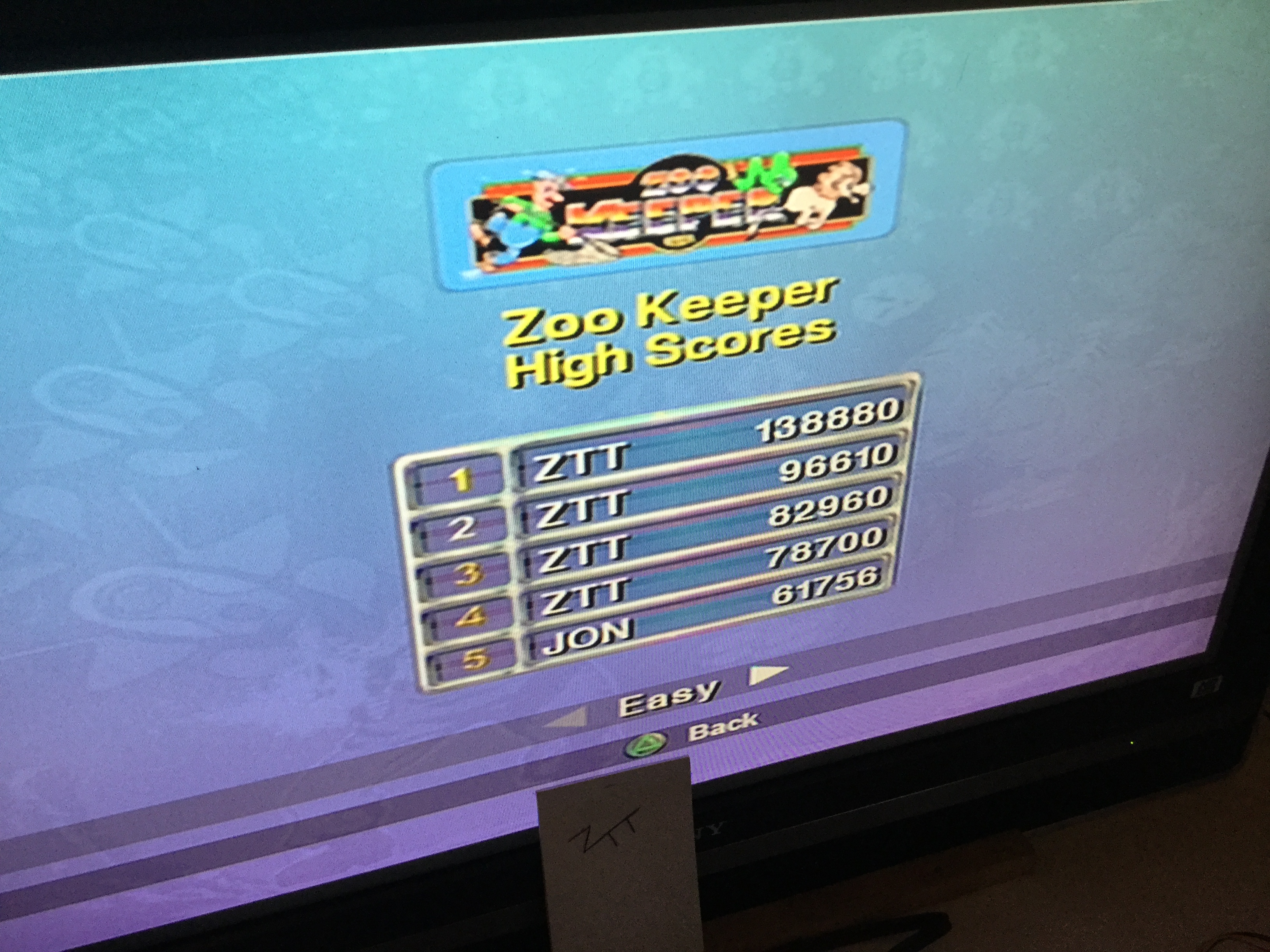 Frankie: Taito Legends: Zoo Keeper [Easy] (Playstation 2) 138,880 points on 2018-04-03 12:23:09