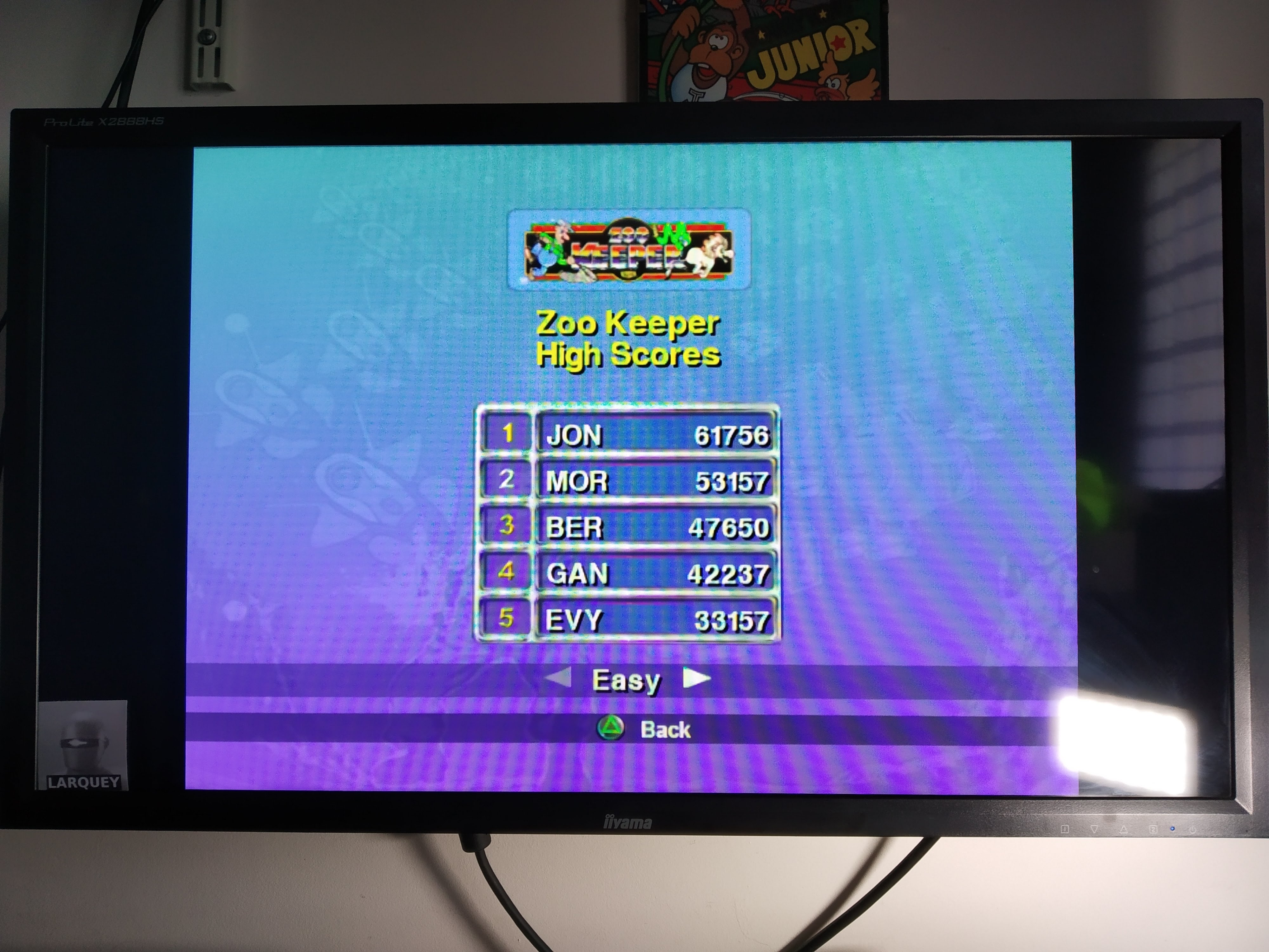 Larquey: Taito Legends: Zoo Keeper [Easy] (Playstation 2 Emulated) 47,650 points on 2020-07-31 08:43:24