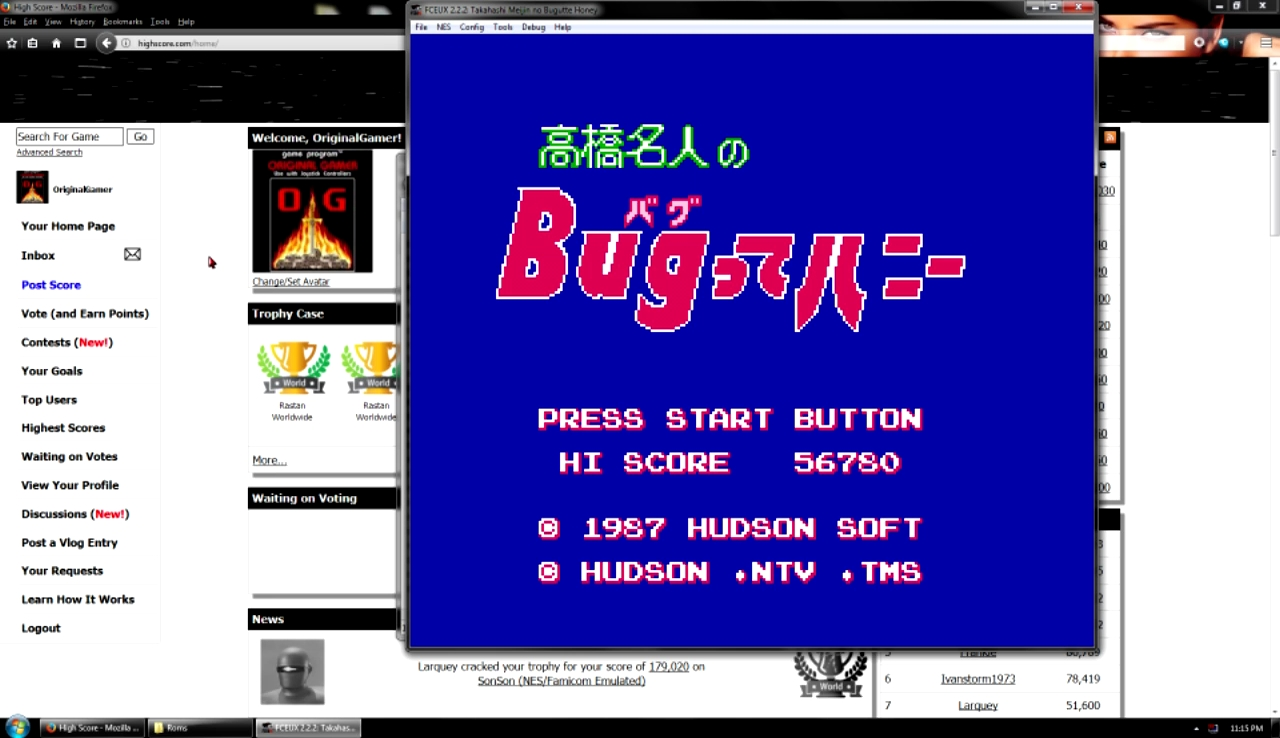 OriginalGamer: Takahashi Meijin no Bugut (NES/Famicom Emulated) 56,780 points on 2017-10-29 23:30:42