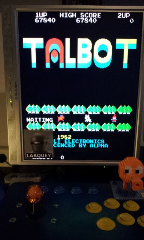 Larquey: Talbot [talbot] (Arcade Emulated / M.A.M.E.) 67,840 points on 2017-02-06 11:40:57