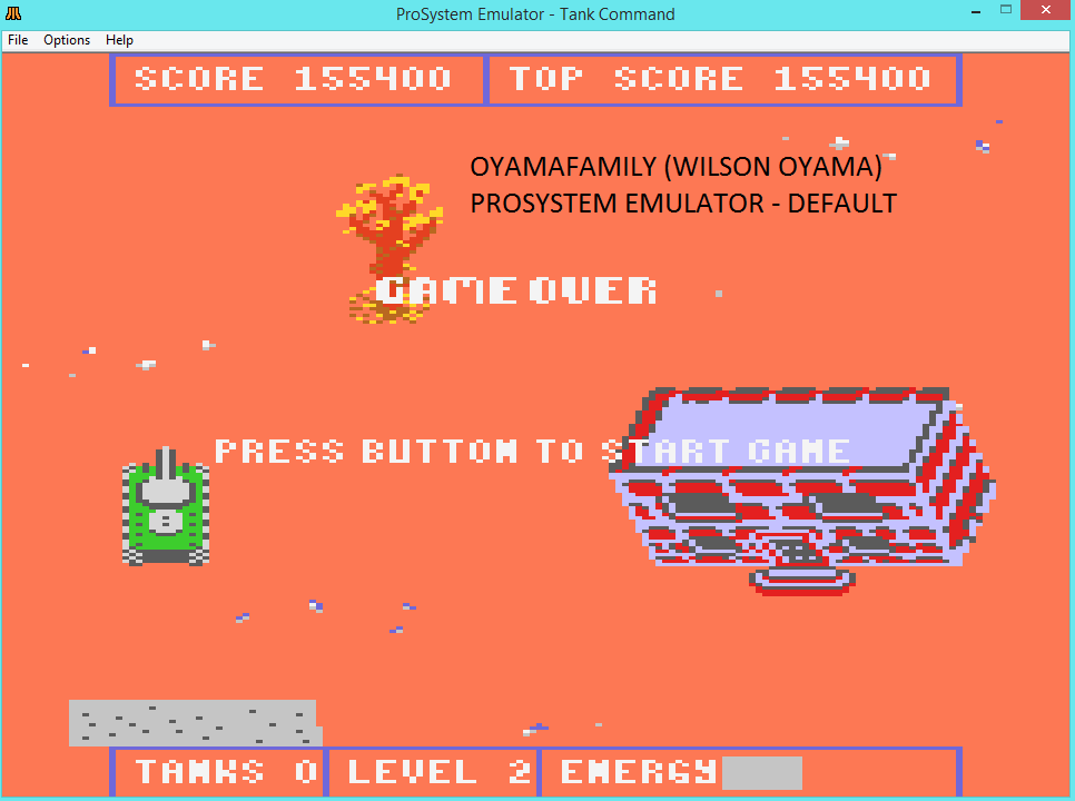 oyamafamily: Tank Command (Atari 7800 Emulated) 155,400 points on 2016-02-28 11:58:47