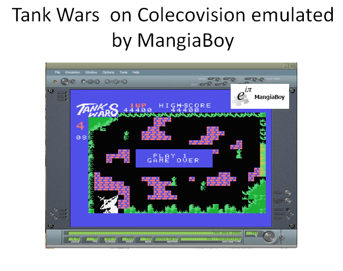 MangiaBoy: Tank Wars (Colecovision Emulated) 44,400 points on 2016-04-07 08:49:35