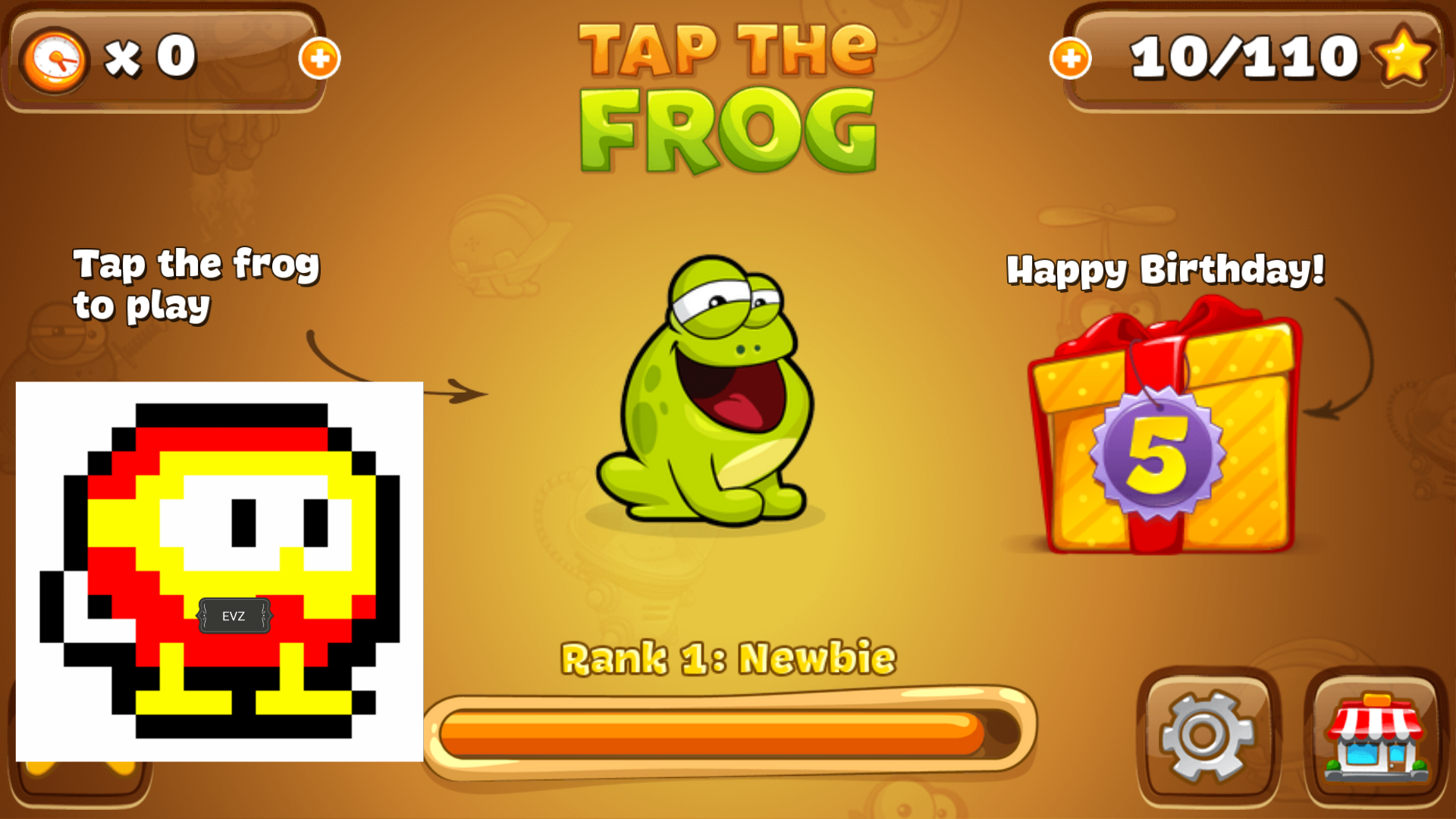 Tap The Frog 131 points