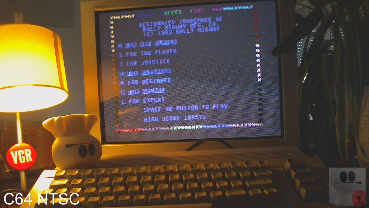 GTibel: Tapper [Arcade] (Commodore 64) 108,575 points on 2020-02-14 09:14:27