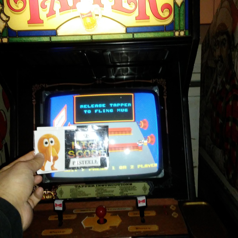 Pjsteele: Tapper (Arcade) 6,400 points on 2018-03-04 07:35:05