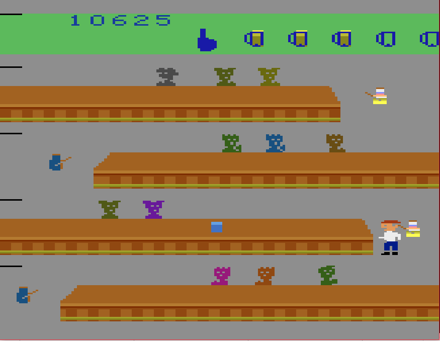 BucketHoodie: Tapper (Atari 2600 Emulated Novice/B Mode) 10,625 points on 2019-04-20 20:26:37