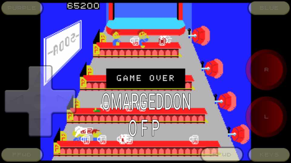 omargeddon: Tapper (Colecovision Emulated) 65,200 points on 2016-11-03 00:33:37
