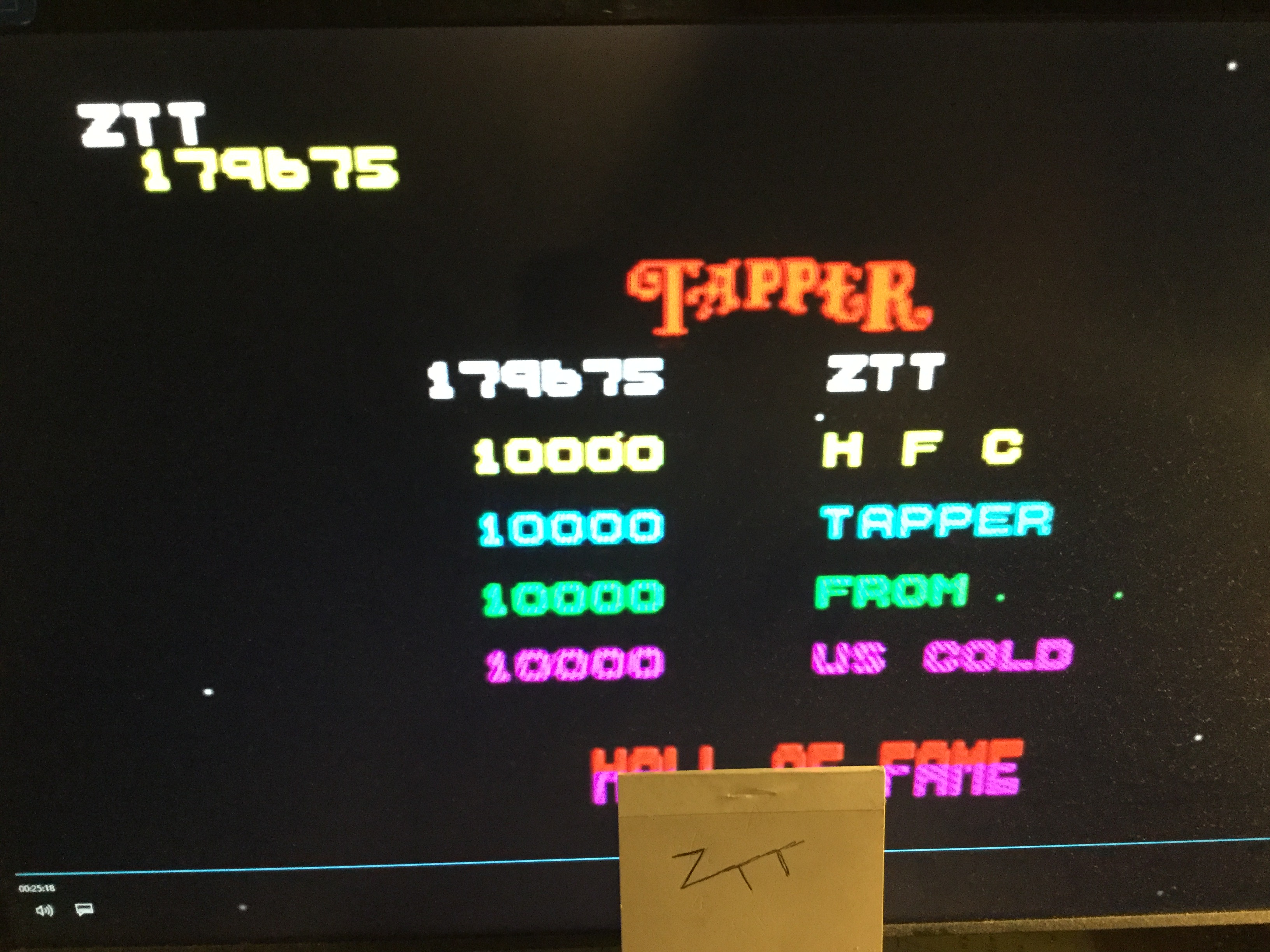 Frankie: Tapper [Easy] (ZX Spectrum Emulated) 179,675 points on 2019-10-12 16:05:18