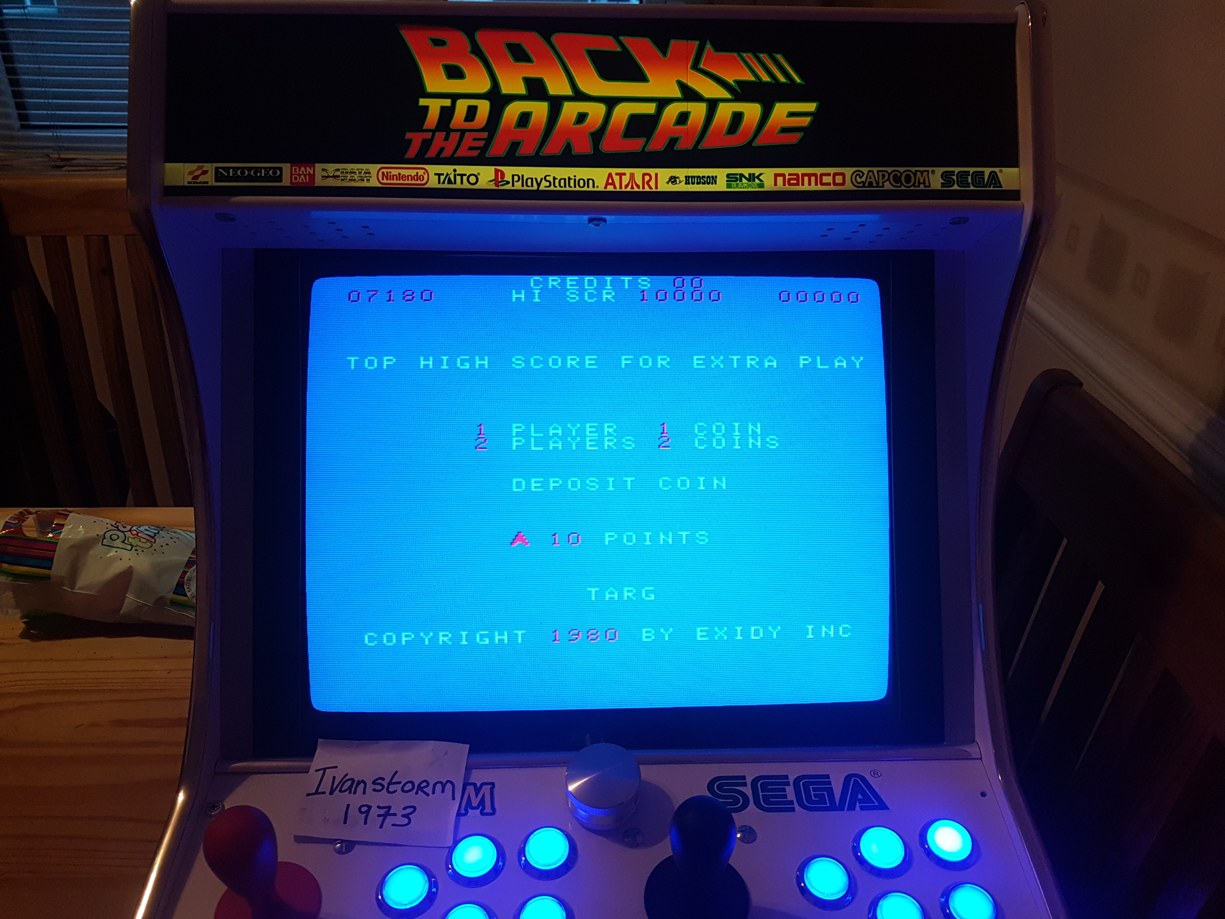 Ivanstorm1973: Targ (Arcade Emulated / M.A.M.E.) 7,180 points on 2017-11-15 15:48:06