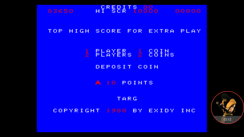 omargeddon: Targ (Arcade Emulated / M.A.M.E.) 3,650 points on 2018-01-06 15:25:26