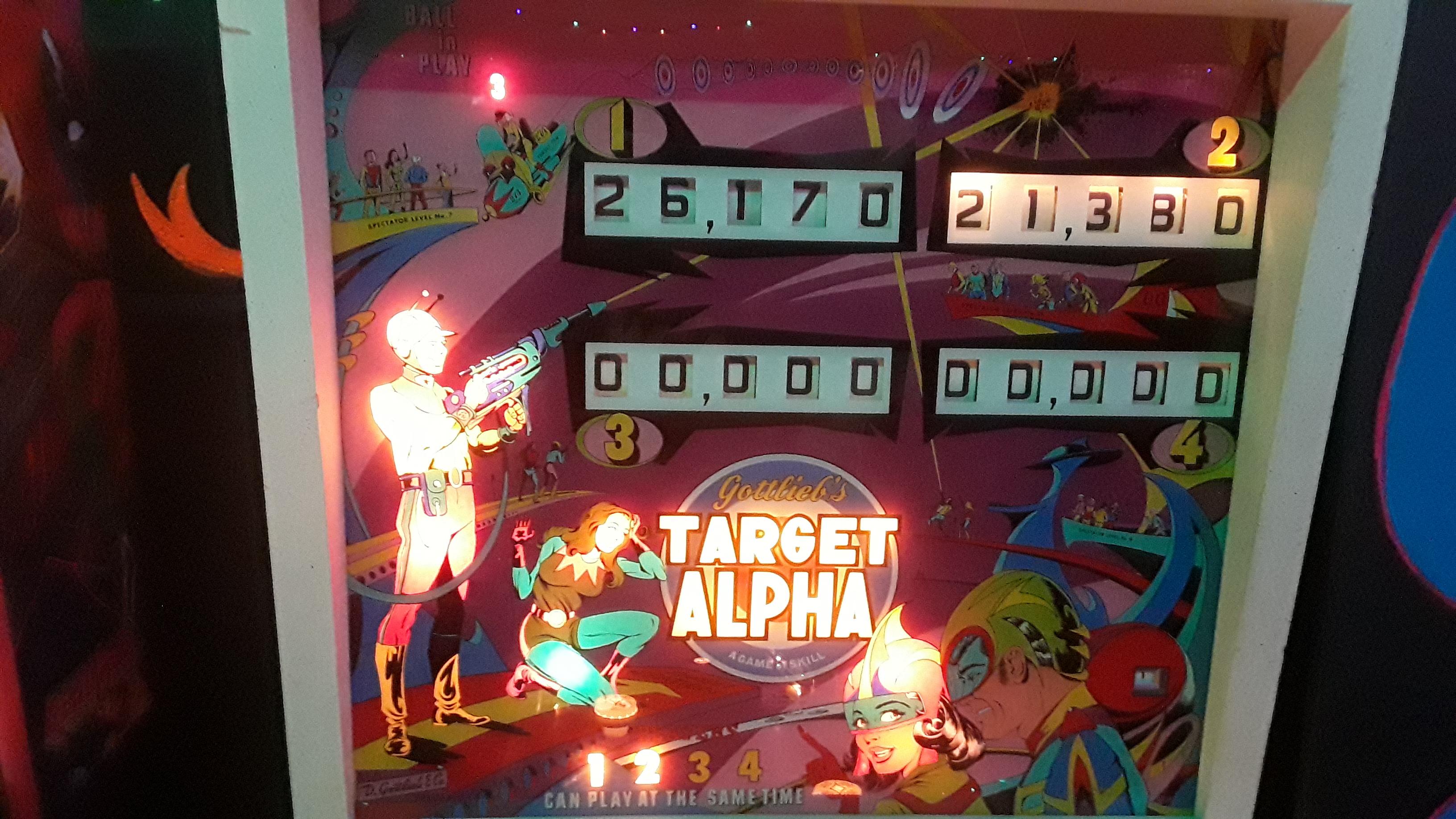 JML101582: Target Alpha (Pinball: 3 Balls) 26,170 points on 2019-12-28 17:16:27