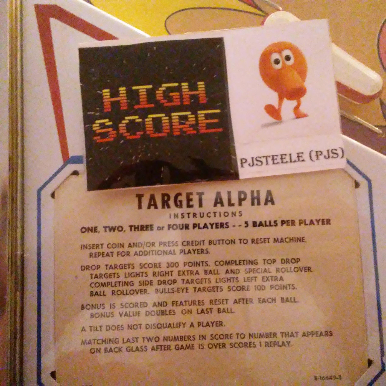 Target Alpha 17,630 points