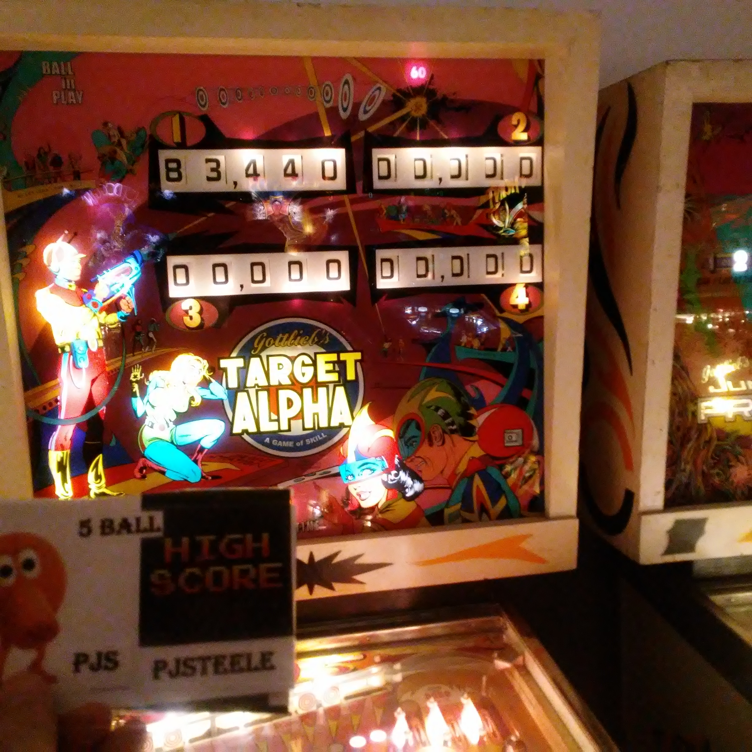 Pjsteele: Target Alpha (Pinball: 5 Balls) 83,440 points on 2018-03-03 19:10:14