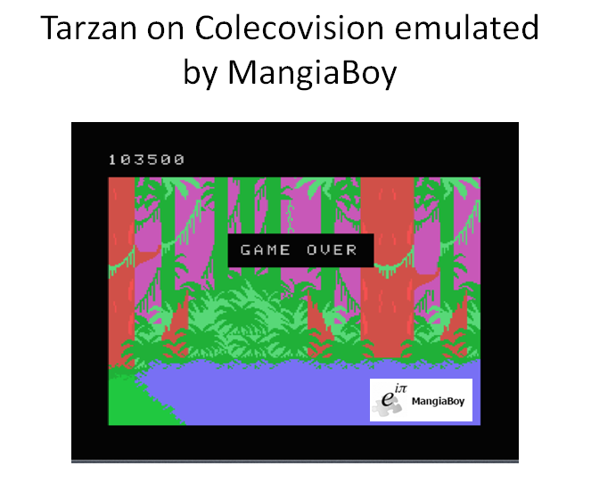 MangiaBoy: Tarzan: Skill 1 (Colecovision Emulated) 103,500 points on 2016-03-08 13:31:04