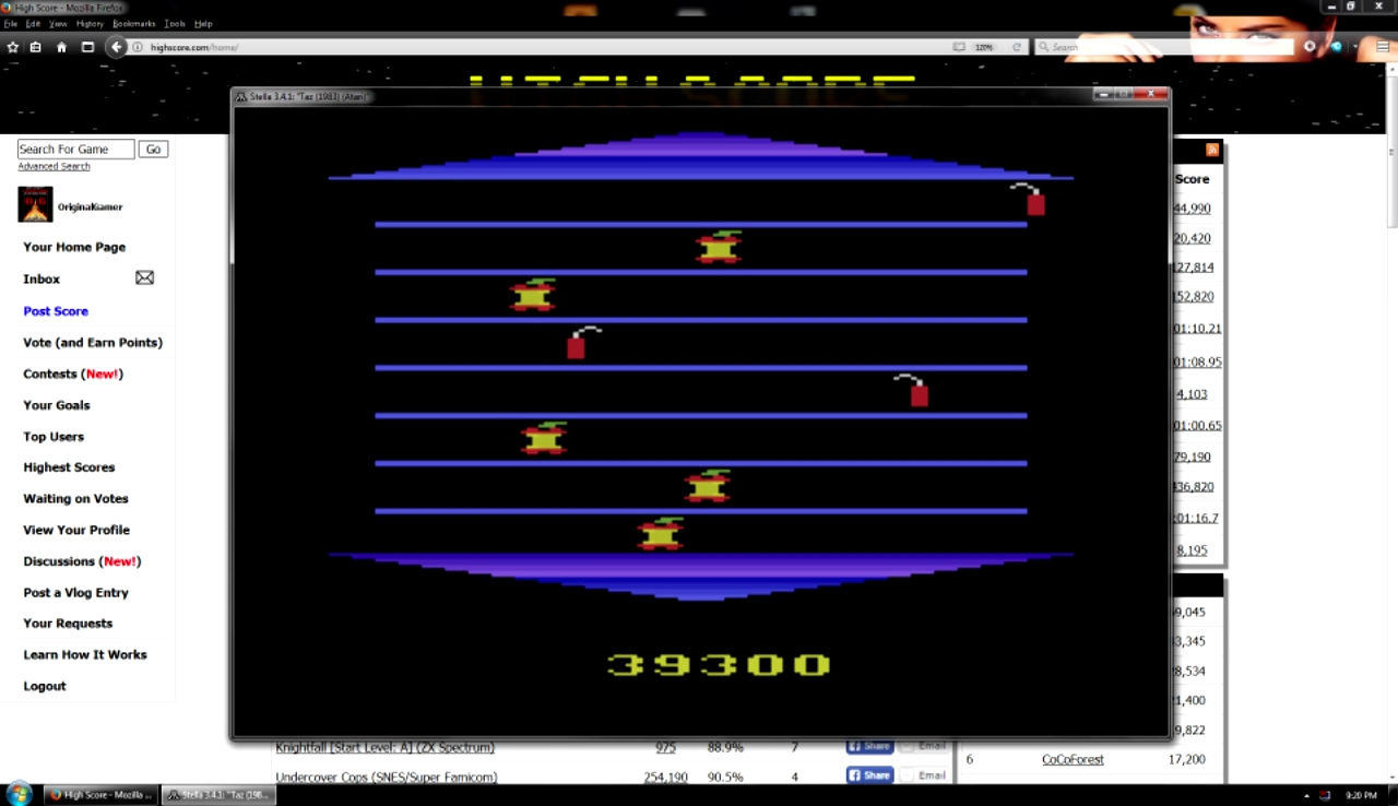 OriginalGamer: Taz (Atari 2600 Emulated) 39,300 points on 2018-01-07 04:29:51