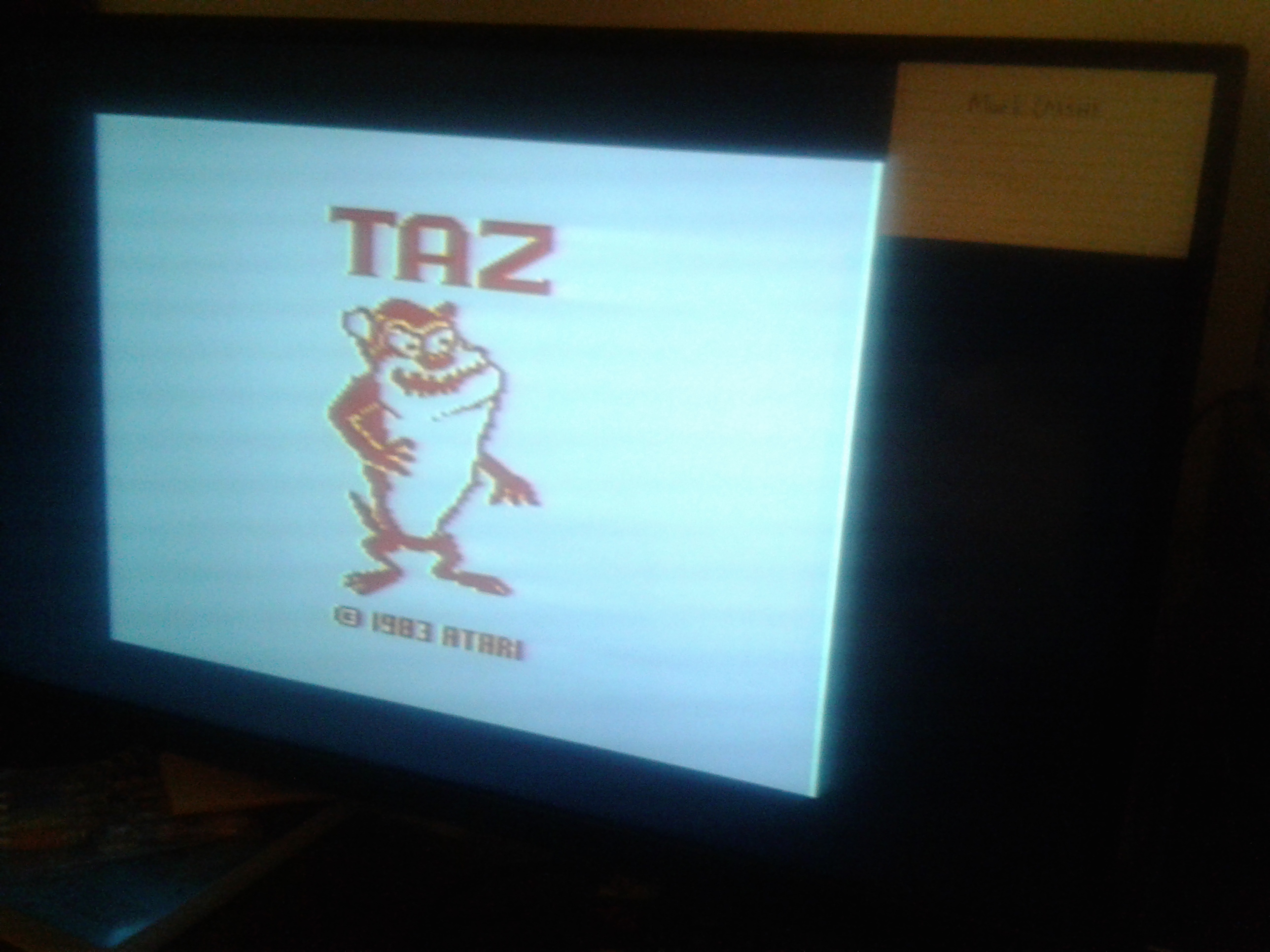 Mark: Taz (Atari 2600) 16,500 points on 2019-02-18 23:21:20