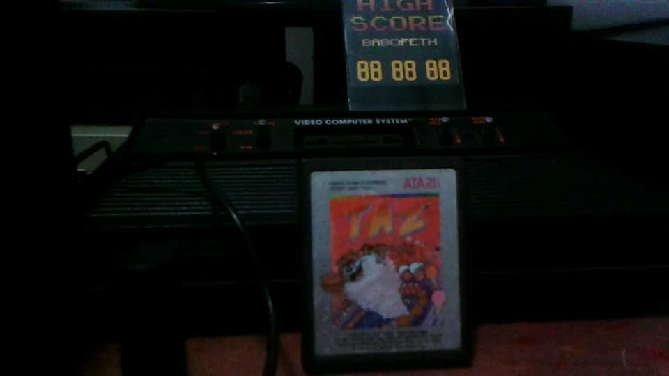 BabofetH: Taz (Atari 2600) 256,000 points on 2020-07-29 01:07:06