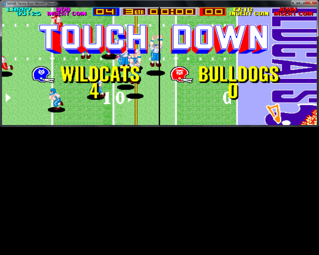 bubufubu: Tecmo Bowl [Point Difference] (Arcade Emulated / M.A.M.E.) 140 points on 2015-06-30 15:39:43