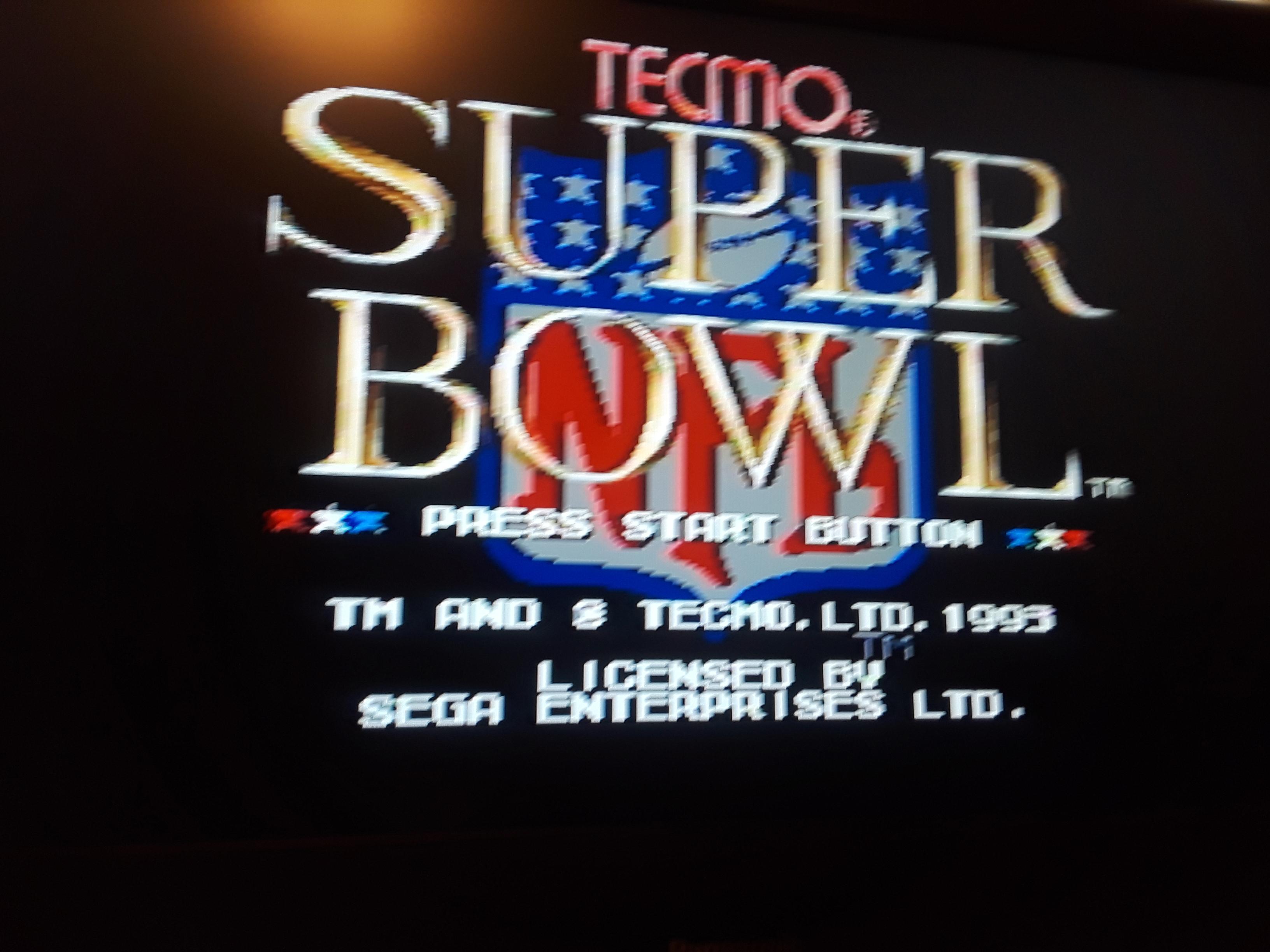 Tecmo Super Bowl [Most 1st Downs] [Preseason Game] 13 points