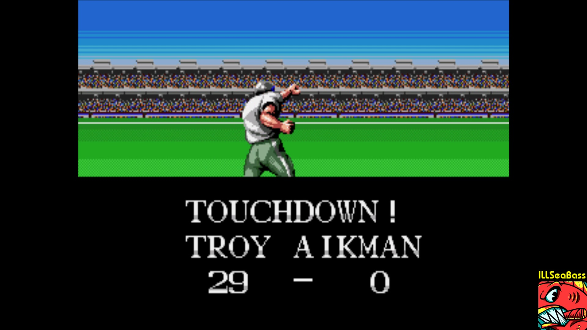 ILLSeaBass: Tecmo Super Bowl [Most Passing Yards] [Preseason] (Sega Genesis / MegaDrive Emulated) 473 points on 2018-01-04 22:59:50
