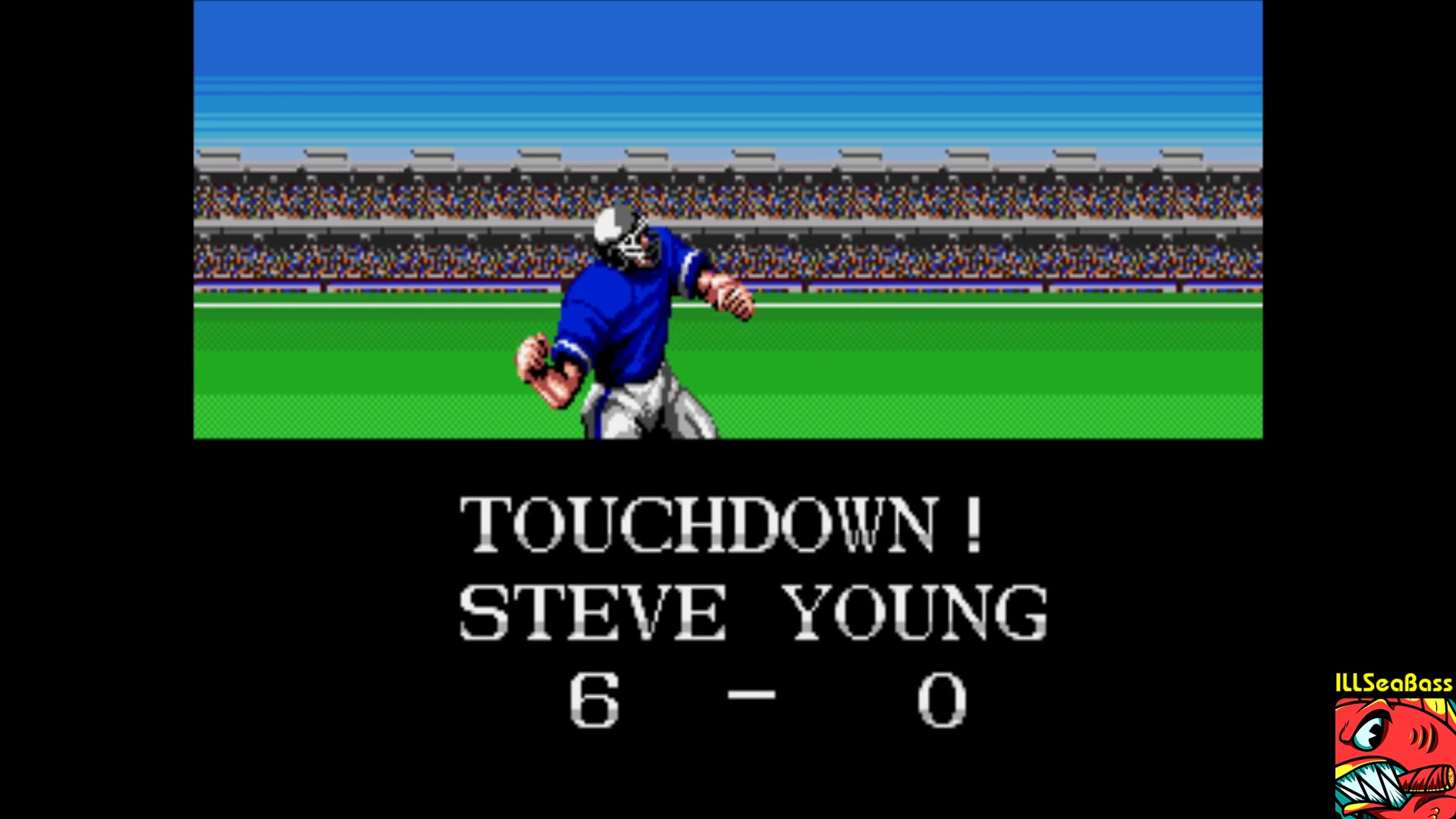 ILLSeaBass: Tecmo Super Bowl [Most Passing Yards] [Pro Bowl] (Sega Genesis / MegaDrive Emulated) 518 points on 2018-01-29 00:23:46