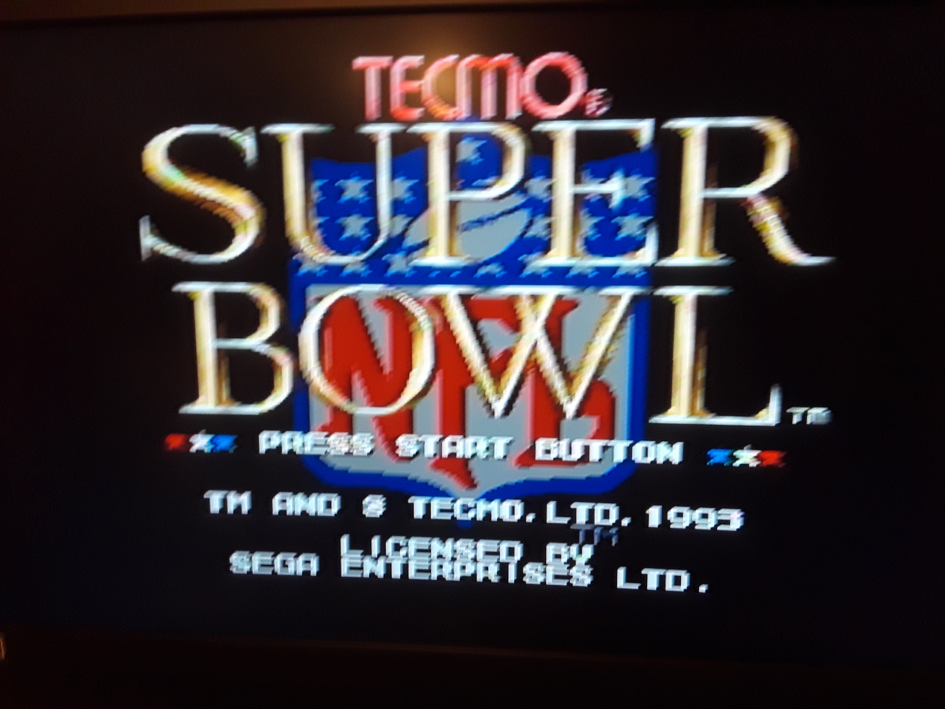 Tecmo Super Bowl [Most Receiving Yards] [Preseason game] 118 points