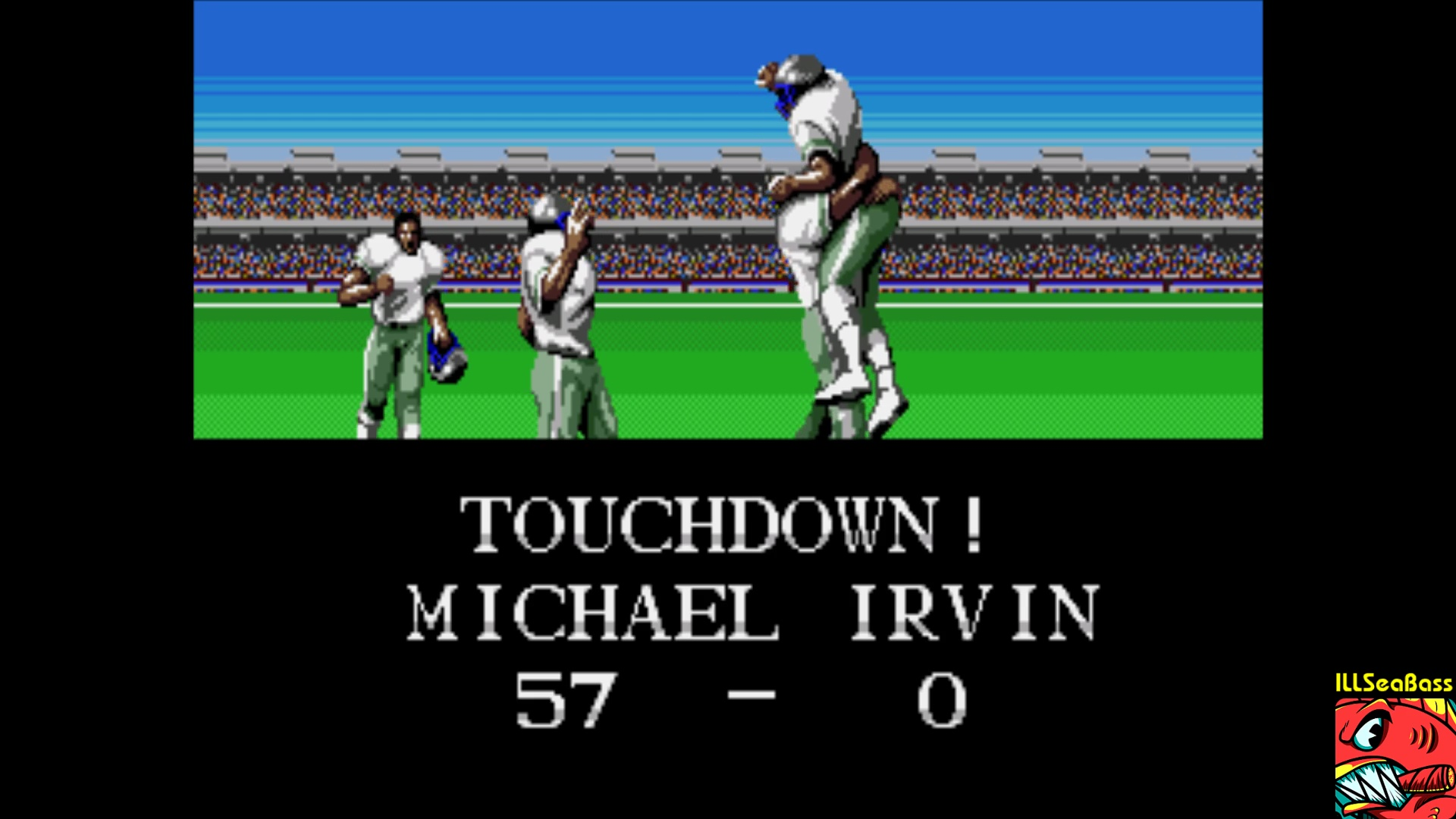 ILLSeaBass: Tecmo Super Bowl [Most Receiving Yards] [Preseason game] (Sega Genesis / MegaDrive Emulated) 457 points on 2018-01-04 22:59:32