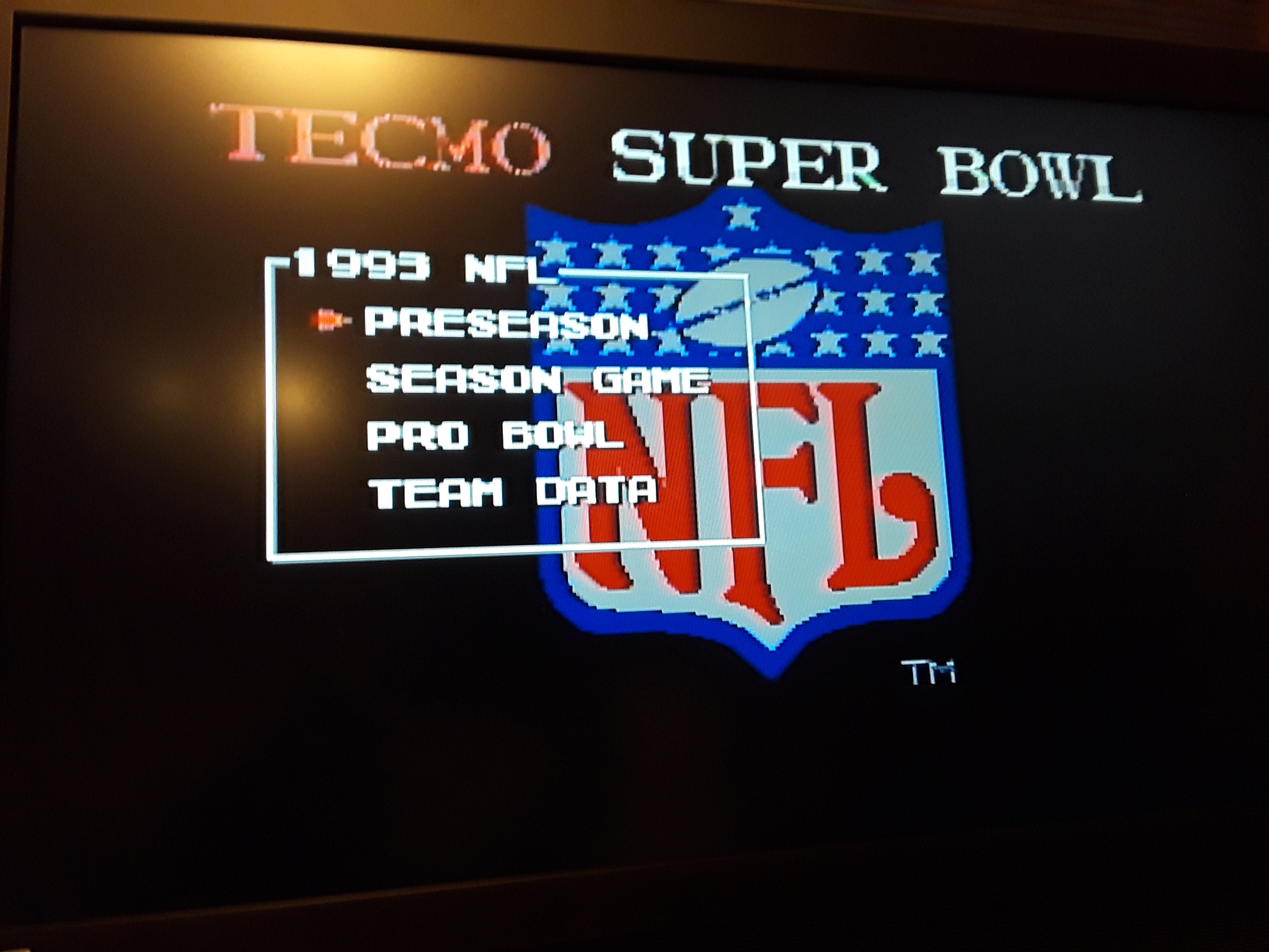 Tecmo Super Bowl [Most Receiving Yards] [Preseason game] 189 points