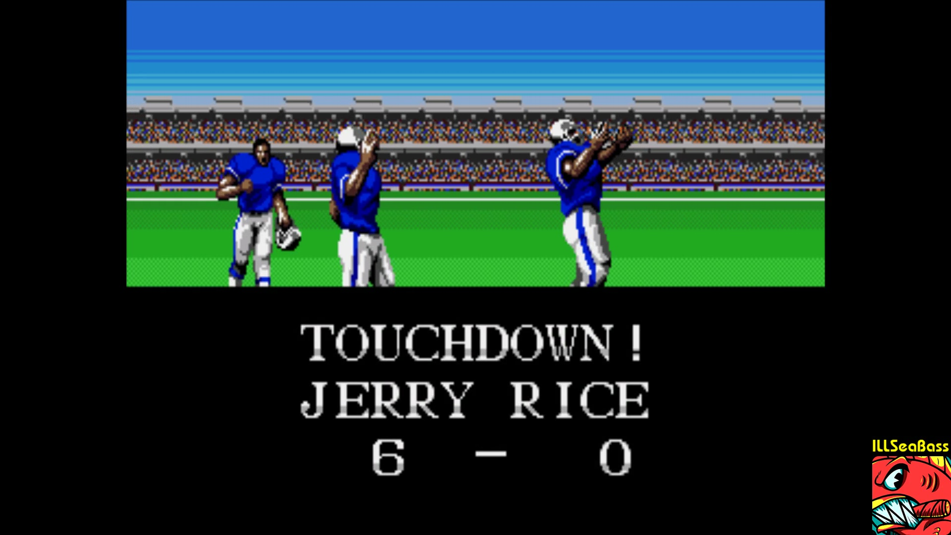 ILLSeaBass: Tecmo Super Bowl [Most Receiving Yards] [Pro Bowl] (Sega Genesis / MegaDrive Emulated) 406 points on 2018-01-29 00:21:53