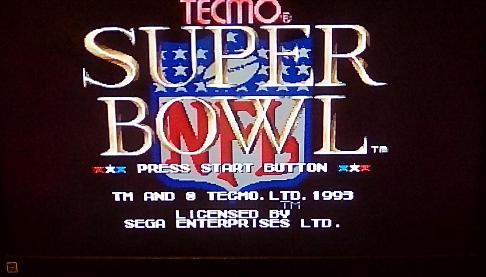 Tecmo Super Bowl [Most Receptions] [Preseason Game] 12 points