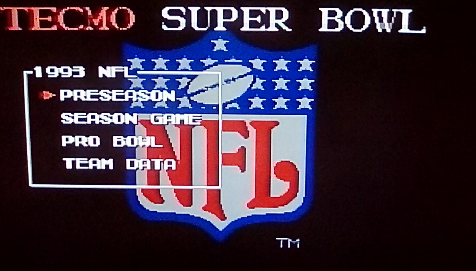 Tecmo Super Bowl [Most Rushing Yards] [Preseason] 491 points