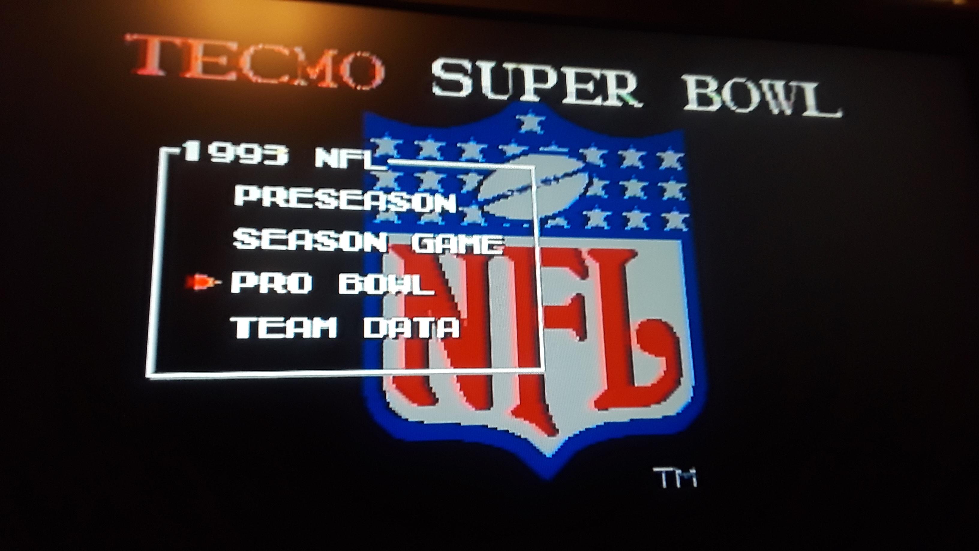 JML101582: Tecmo Super Bowl [Most Rushing Yards] [Pro Bowl] (Sega Genesis / MegaDrive Emulated) 442 points on 2019-11-04 17:52:10