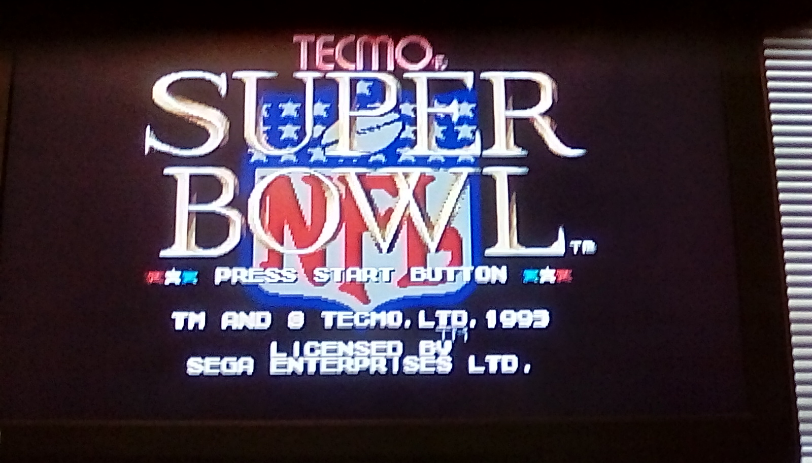 Tecmo Super Bowl [Most Total Yards In A Preseason Game] 623 points